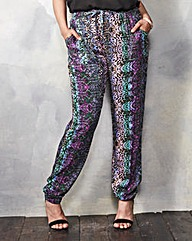 Printed Woven Harem Trousers - Long