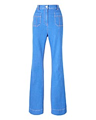 Simply Be Molly Kick Flare Jeans Long