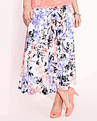 Nightingales Printed ITY Skirt