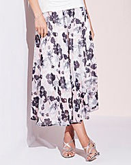 Nightingales Printed Chiffon Skirt