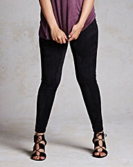 Suedette Front Leggings - Regular