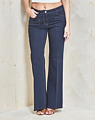 Simply Be Pixie Wide-Leg Jeans Reg