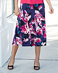 Nightingales Print Skirt 27in