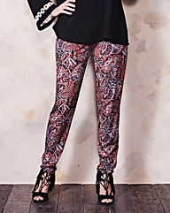 Print Stretch Jersey Harem Trouser Short