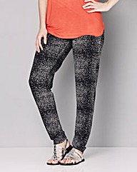 Printed Harem Jersey Trousers - Regular
