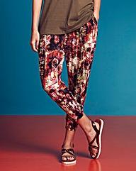 Print Jersey Crop Harem Trousers