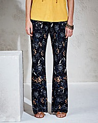 Jersey Kickflare Printed Trouser