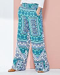 Shirred Waist Wide-Leg Trousers Short