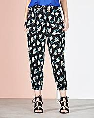 Floral Print Woven Crop Harem Trouser