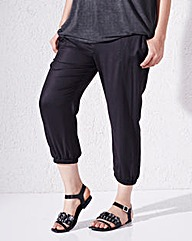 Woven Crop Harem Trouser