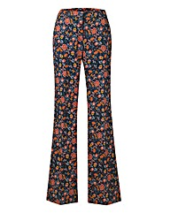 Cotton Sateen Kickflare Trouser Regular