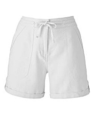 Linen-Mix Tie-Waist Shorts