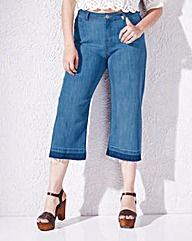 Simply Be Denim Culottes Reg