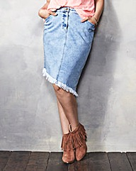 Denim Asymetric Denim Skirt