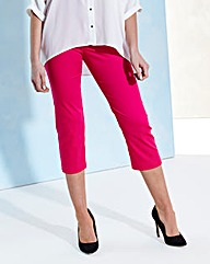 Cotton Sateen Crop Trousers