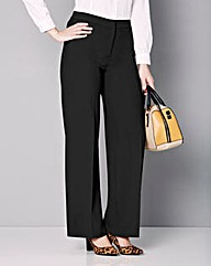 Wide Leg Stretch Trousers - Short