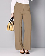Wide Leg Stretch Trousers - Regular