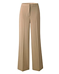 Wide Leg Stretch Trousers - Long