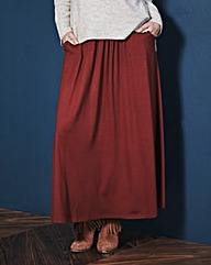 Jersey Maxi Skirt with Pockets