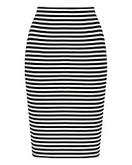 Stripe Tube Stretch Jersey Skirt
