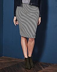 Stripe Tube Stretch Jersey Skirt