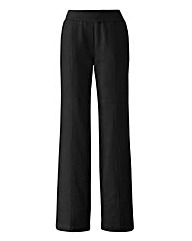 Slouch Linen Mix Wide Leg Trousers Long