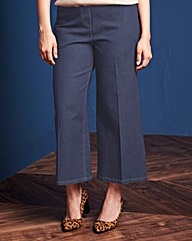 Simply Be Wide-Leg Crop Jean Reg