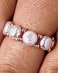 Pearl Stretch Ring Pink