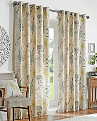 Botanical With Printed Lining Curtain