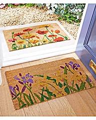Poppy and Iris Pack of Coir Doormats 2