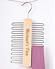 Tie Rack Organiser Personalised