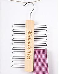Tie Rack Organiser Personalised