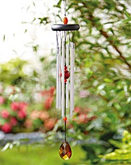 Wind Chime with Amber Stone