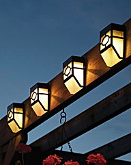 Solar Fence Lights Set of 4