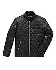 Jacamo Black Vancouver Quilted Jacket R