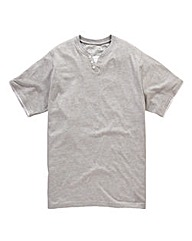 Jacamo Grey Layered T-Shirt Long