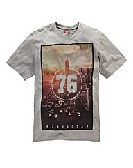 Label J 76 Print T-Shirt Long