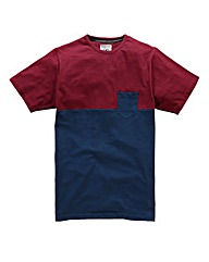 Flintoff By Jacamo Colour Block Tee Long
