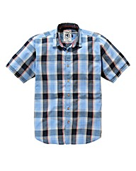 Flintoff By Jacamo S/S Check Shirt Long