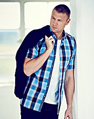 Flintoff By Jacamo S/S Check Shirt Reg