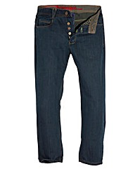 Jacamo Vintage Button Fly Jean 33In Leg