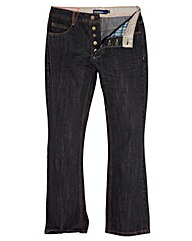 UNION BLUES Mens Bootcut Jeans 35 inches