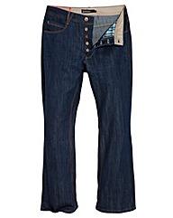 Jacamo Stonewash Bootcut Jeans 35In Leg