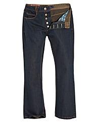Jacamo Vintage Bootcut Jeans 33In Leg