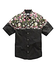 Label J Floral Dip Shirt Long