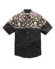 Label J Floral Dip Shirt Long