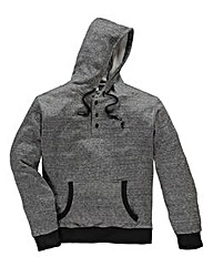 Jacamo Griffin Grey Button Neck Hoodie L