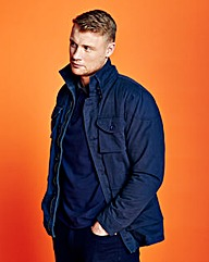 Flintoff By Jacamo Navy Military JacketR