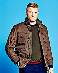 Flintoff By Jacamo Olive Military Jkt R