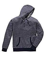 Jacamo Griffin Navy Button Neck Hoodie L